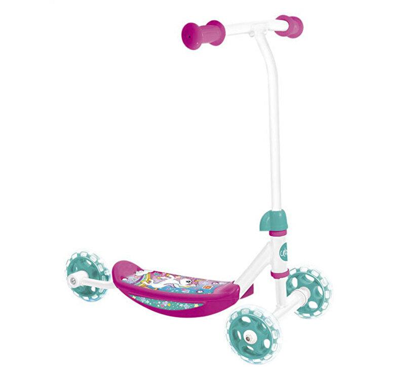 Mondo - Trotineta ergonomica copii Mondo Unicorn 3 roti silicon, roz cu bleu -
