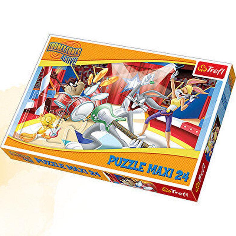 Trefl - Trefl - Puzzle maxi Looney Tunes, 24 piese -