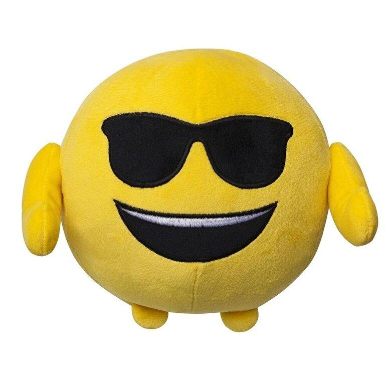 Ilanit - Emoji - Jucarie plus Smiling face with sunglasses, 18 cm -