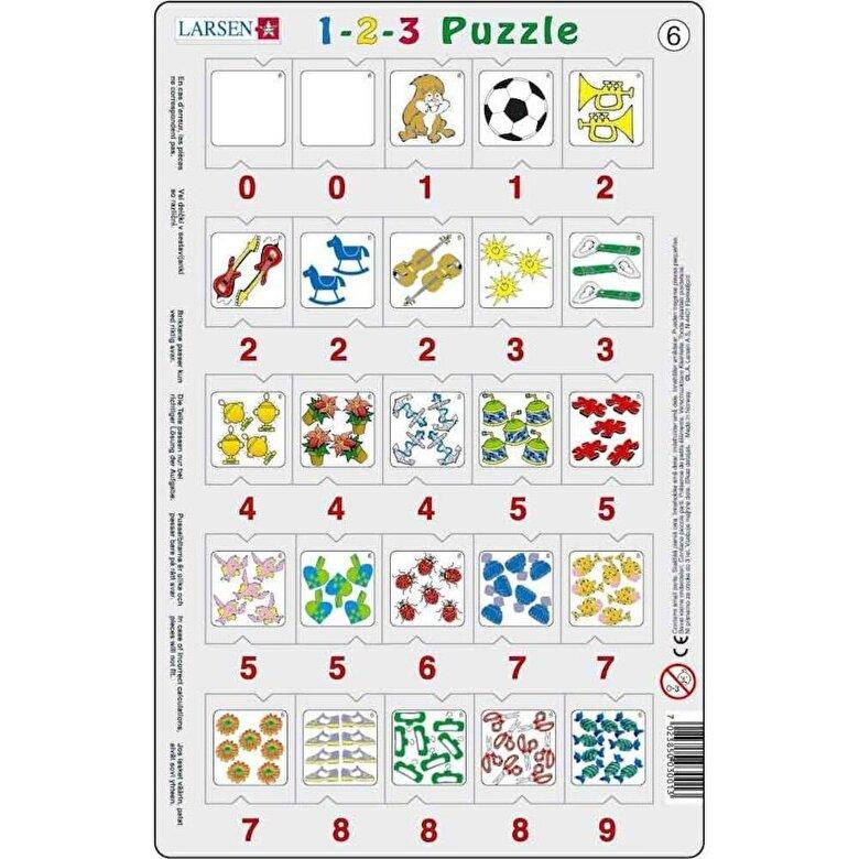 Larsen - Set 12 Puzzle-uri 1-2-3, 25 piese -