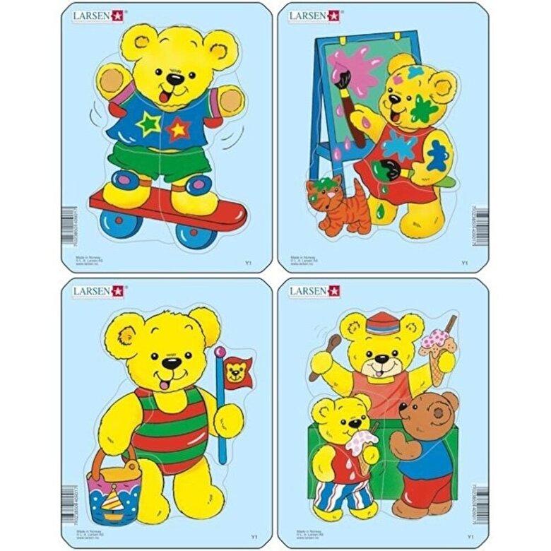 Larsen - Set 4 Puzzle-uri Ursuleti, 5 piese -