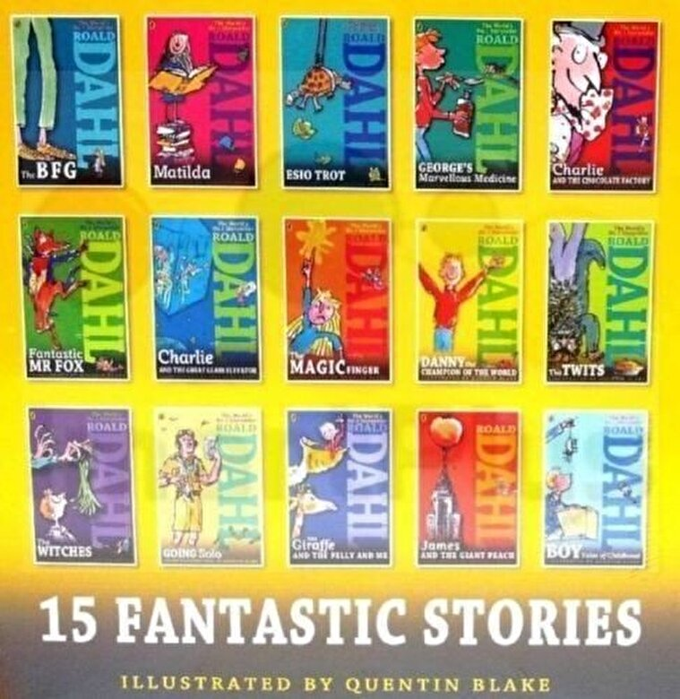 Roald Dahl - Roald Dahl Collection - 15 Paperback Book Boxed Set -