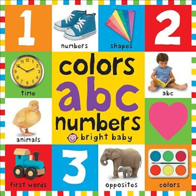 Roger Priddy - Bright Baby Colors, ABC, Numbers, Hardcover -