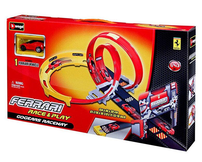 Bburago - Go Gears - Circuit Ferrari Race & Play, cu masinuta -