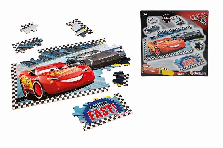 Eichhorn - Puzzle din lemn - Cars 3, 45 piese -