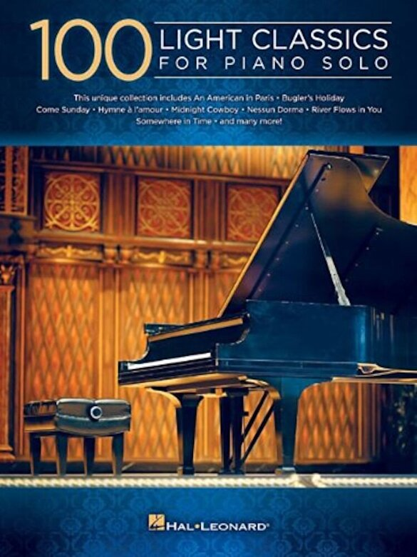 Hal Leonard Corp - 100 Light Classics for Piano Solo, Paperback -