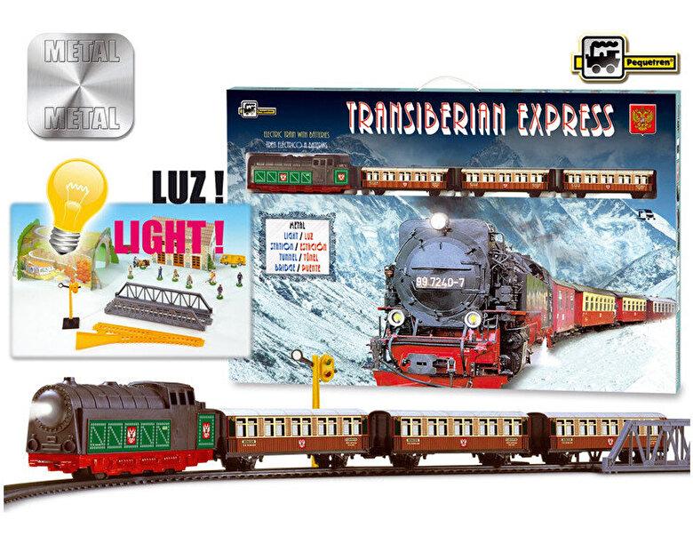 Pequetren - Set constructie - Trenulet electric calatori, Expresul Transiberian -