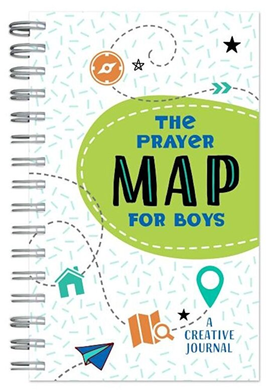 Compiled by Barbour Staff - The Prayer Map for Boys: A Creative Journal, Paperback -