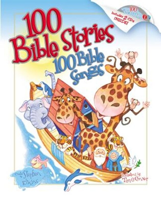 Stephen Elkins - 100 Bible Stories, 100 Bible Songs [With CD], Hardcover -
