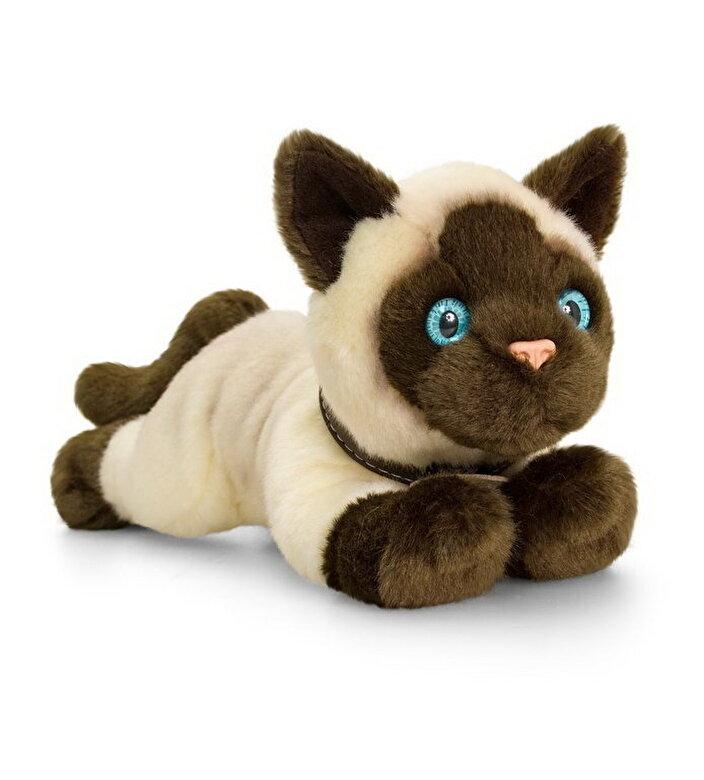 Keel Toys - Jucarie plus Pisica Siameza, 30 cm -