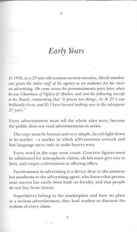 David Ogilvy - The Unpublished David Ogilvy, Paperback -