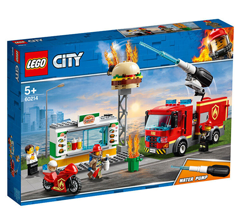LEGO - LEGO City, Stingerea incendiului de la Burger Bar 60214 -