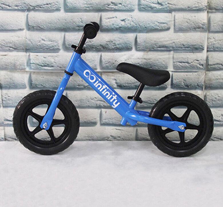 Infinity - Bicicleta fara pedale 12'', albastra, cadru metal -