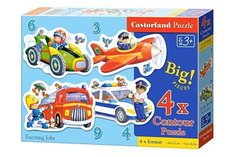 Castorland - Puzzle 4 in 1 - Meserii, 22 piese -