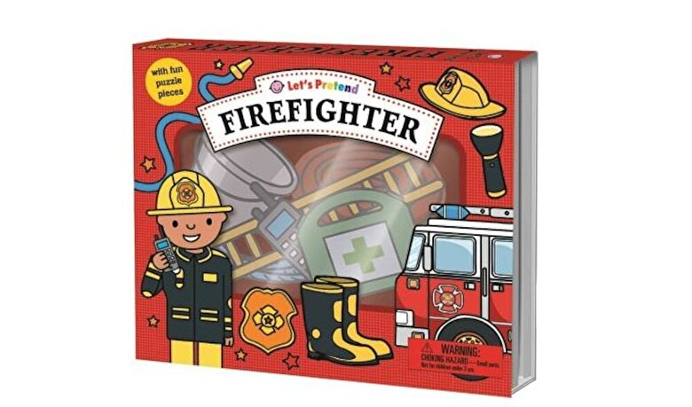 Roger Priddy - Let's Pretend: Firefighter Set: With Fun Puzzle Pieces, Hardcover -