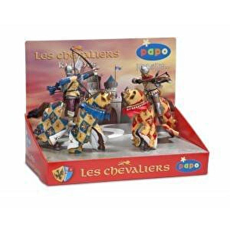 Papo - Papo, Cutie cavaleri, 4 figurine -