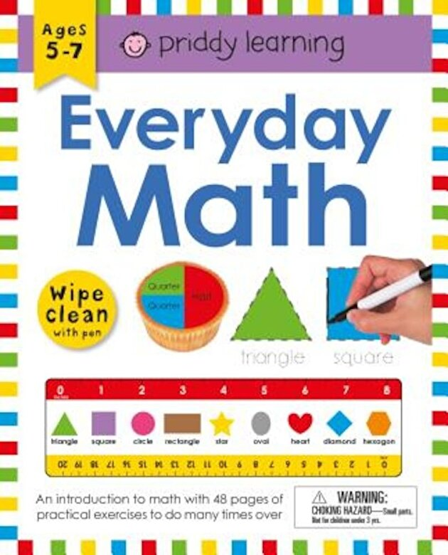 Roger Priddy - Wipe Clean Workbook: Everyday Math [With Pen], Paperback -