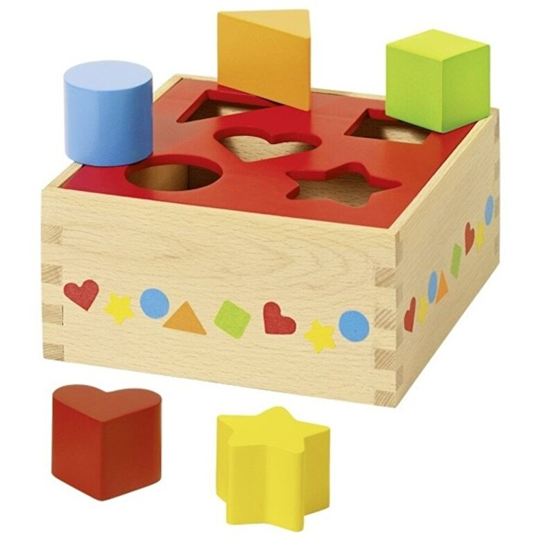 Goki - Jucarie sortare - Cutie 5 cuburi -