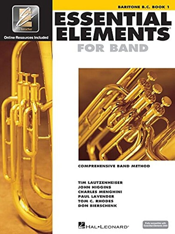 Hal Leonard Corp - Essential Elements for Band - Baritone B.C. Book 1 with Eei, Paperback -