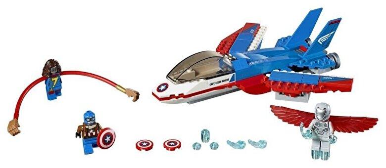 LEGO - LEGO Super Heroes, Capitanul America si urmarirea avionului cu reactie 76076 -
