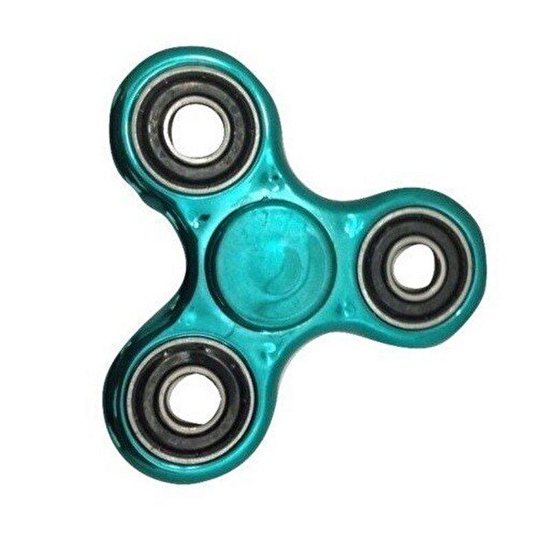Whirlerz - Fidget Spinner metallic look, turcoaz -