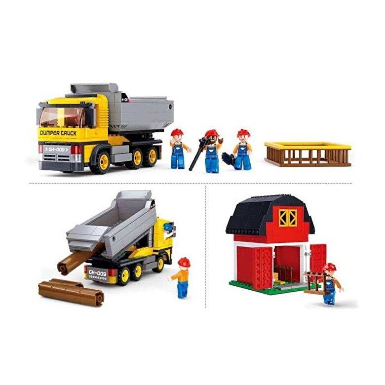 Sluban - Sluban Town Construction - Camion de gunoi, 384 piese -