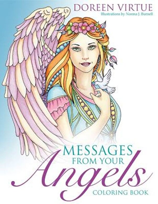 Doreen Virtue - Messages from Your Angels Coloring Book, Paperback -
