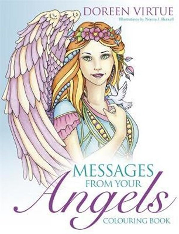 Doreen Virtue - Messages from Your Angels Colouring Book, Paperback -