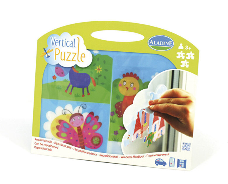 AladinE - Puzzle vertical 3 in 1 - Pajiste, 27 piese -