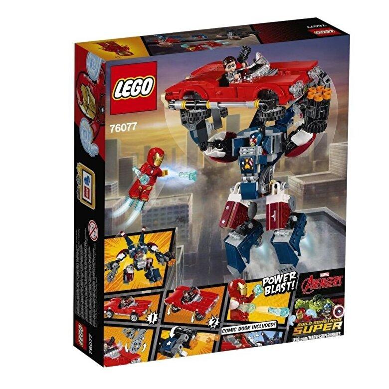 LEGO - LEGO Super Heroes, Iron Man: Atacul lui Detroit Steel 76077 -