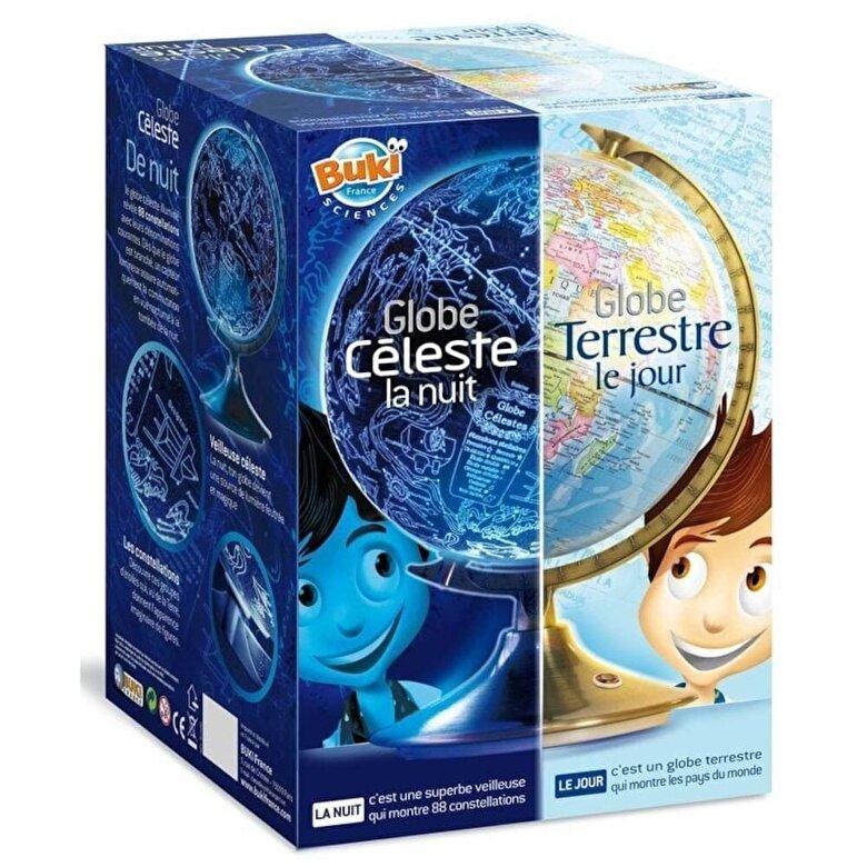 Buki France - Set educativ - Glob terestru ziua, bolta cerului noaptea -
