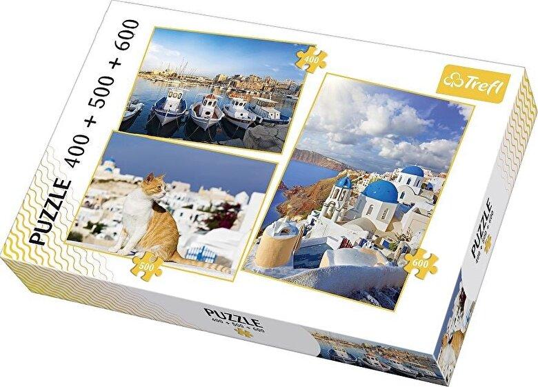 Trefl - Puzzle 3 in 1 - Frumoasa Grecie, 1500 piese -