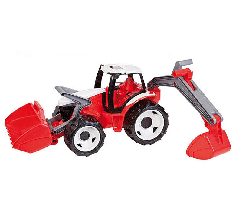 Lena - Tractor cu excavator si cupa Gigant plastic, 102 cm, sustine 100 kg -
