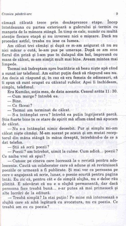 Haruki Murakami - Cronica pasarii-arc -
