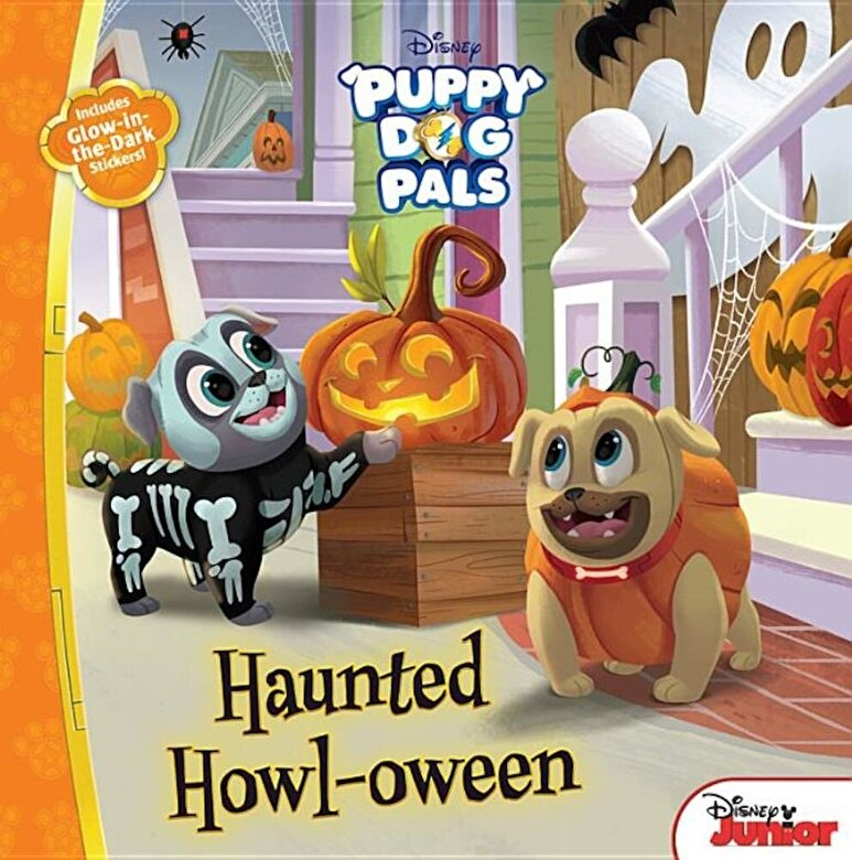 Disney Book Group - Puppy Dog Pals Haunted Howl-Oween: With Glow-In-The-Dark Stickers!, Paperback -