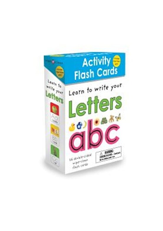 Roger Priddy - Wipe Clean: Activity Flash Cards Letters, Hardcover -