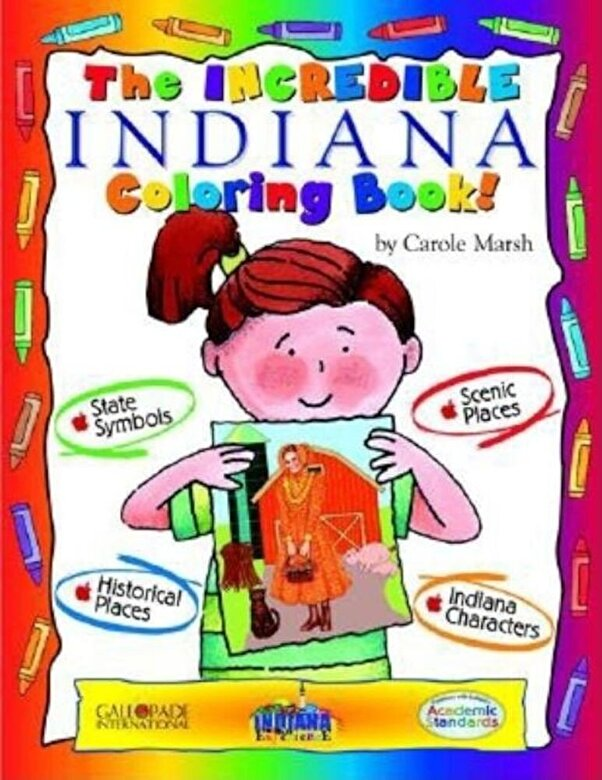 Carole Marsh - Incredible Indiana Color Bk, Paperback -