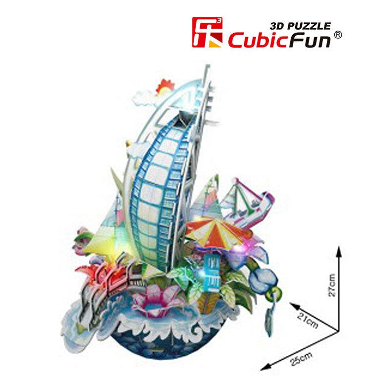 CubicFun - Puzzle 3D cu LED Cityscape New York, 58 piese -