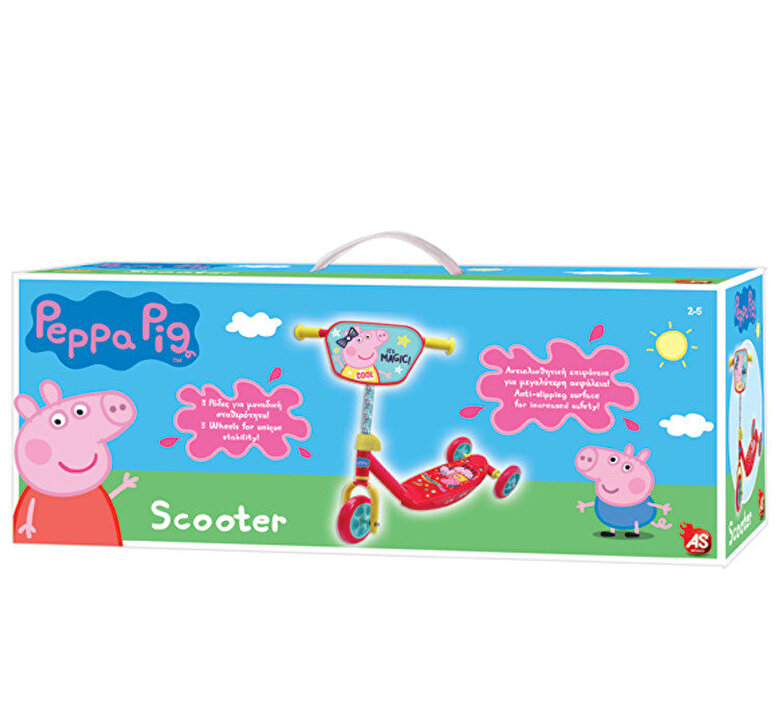 AS - Trotineta cu 3 roti Peppa Pig -