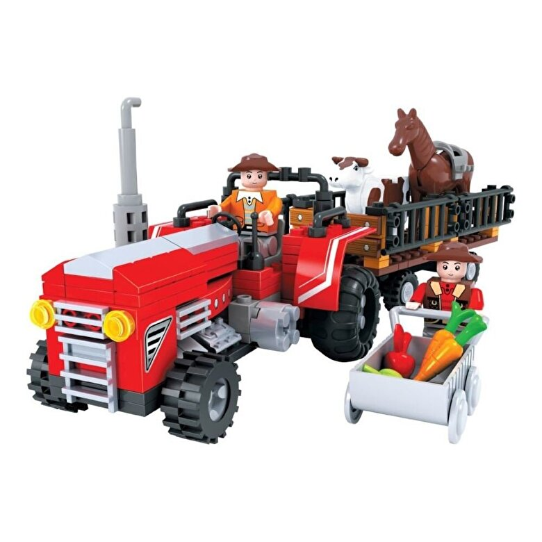 Momki - Momki - Ferma, Tractor cu remorca, 215 piese -