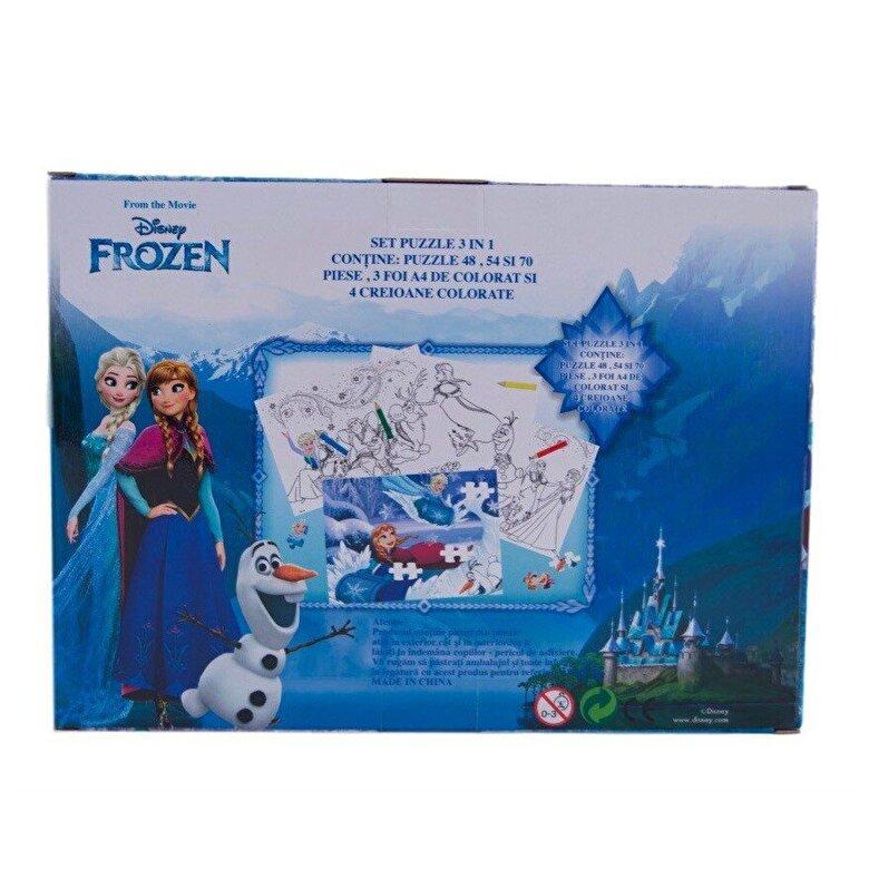 Disney - Puzzle 3 in 1 - Frozen, 172 piese -