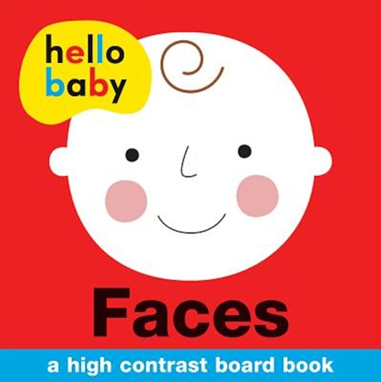 Roger Priddy - Hello Baby: Faces: A High-Contrast Board Book, Hardcover -