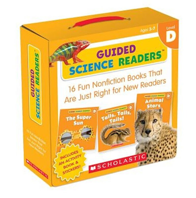 Inc. Scholastic - Guided Science Readers: Level D: 16 Fun Nonfiction Books That Are Just Right for New Readers, Paperback -