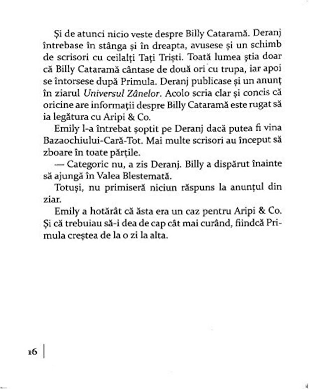 Sally Gardner - Misterioasa disparitie a lui Billy Catarama. Aripi & Co. Un nou caz al Agentiei de detectivi a zanelor -