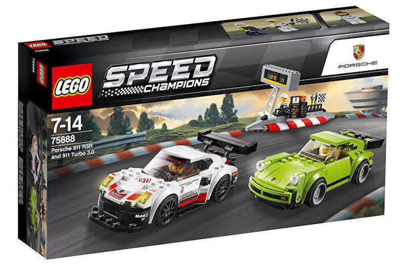 LEGO - LEGO Speed Champions, Porsche 911 RSR si 911 Turbo 3.0 75888 -