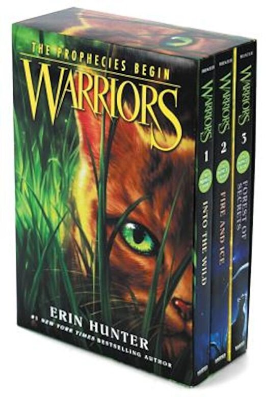 Erin Hunter - Warriors Box Set: Volumes 1 to 3: Into the Wild, Fire and Ice, Forest of Secrets, Paperback -