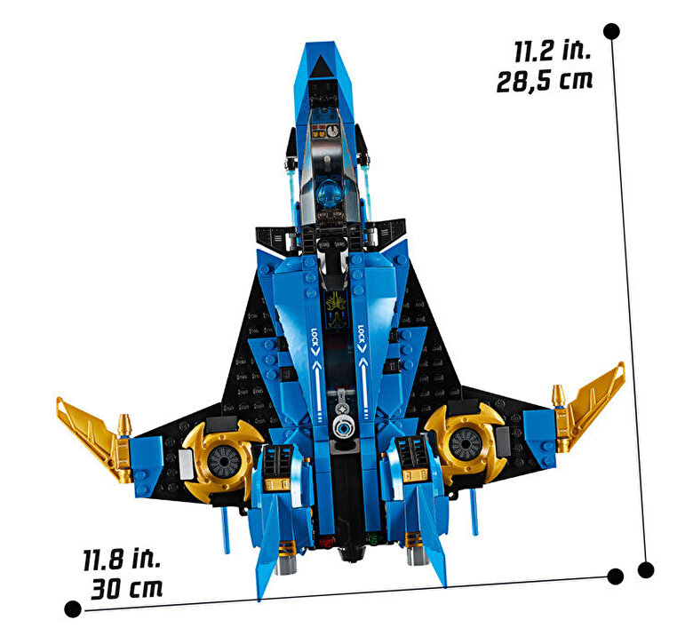 LEGO - LEGO Ninjago, Avionul de lupta al lui Jay 70668 -
