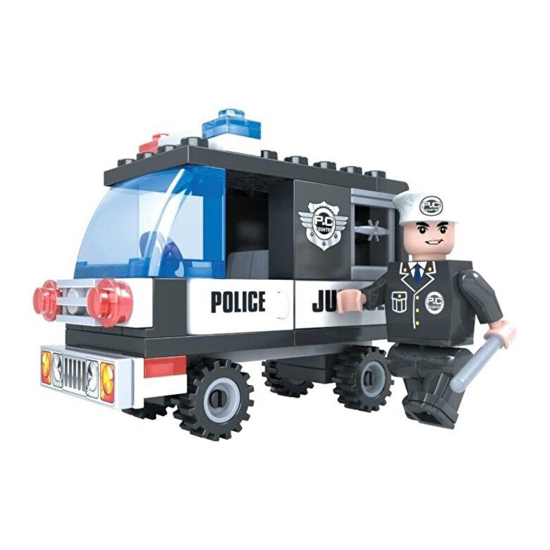 Momki - Momki - Politie, Masina mica politie, 58 piese -