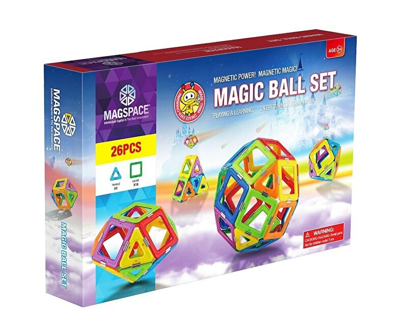 Magspace - Magspace - Joc constructie magnetic Magic Ball Set, 26 piese -