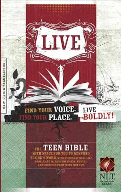 Tyndale - Live Bible-NLT [With Stickers and Poster], Paperback -